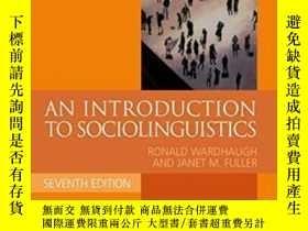 二手書博民逛書店An罕見Introduction To Sociolinguistics (blackwell Textbooks