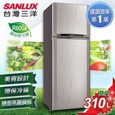 SANLUX台灣三洋 310公升1級能效雙門冰箱 SR-C310B1 6期0利率