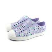 native JEFFERSON PRINT 洞洞鞋 懶人鞋 紫色 花朵 中童 童鞋 12100101-8843 no959 20~22cm