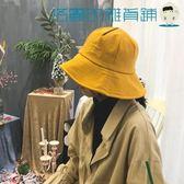大沿漁夫帽女韓版小清新刺繡休閒盆帽【洛麗的雜貨鋪】