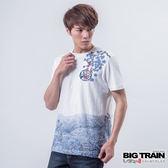 BIG TRAIN 風雲虎嘯圓領T-男-白色