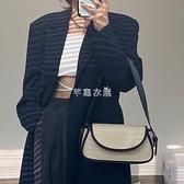 韓版初春新款鱷魚紋拼色百搭法棍包小CK潮2021單肩斜挎女包腋下包 快速出貨