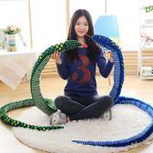 仿真蛇毛絨玩具蟒蛇眼鏡蛇公仔抱枕娃娃玩偶生肖蛇情人節禮物兒童 igo