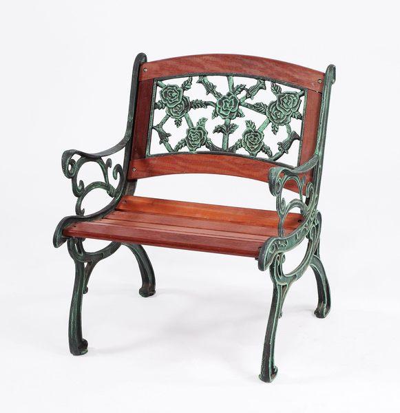 【南洋風休閒傢俱】戶外公園椅系列 -鬱金香拱背公園椅 鑄鐵公園椅  木條公園椅 #860