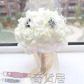 新娘仿真  韓式婚禮結婚手捧花 婚紗攝影道具【奇貨居】