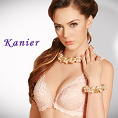 【Kanier卡妮兒】舒適低脊心全蕾絲前扣式胸罩(膚/橘_B)