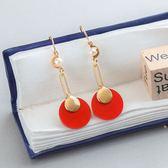 【J&J Accessory】韓國 韓風 繽紛 珍珠 幾何 圓形 長方形 耳環