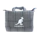 KANGOL 側背包 帆布 灰/格紋 6125170910 noC91
