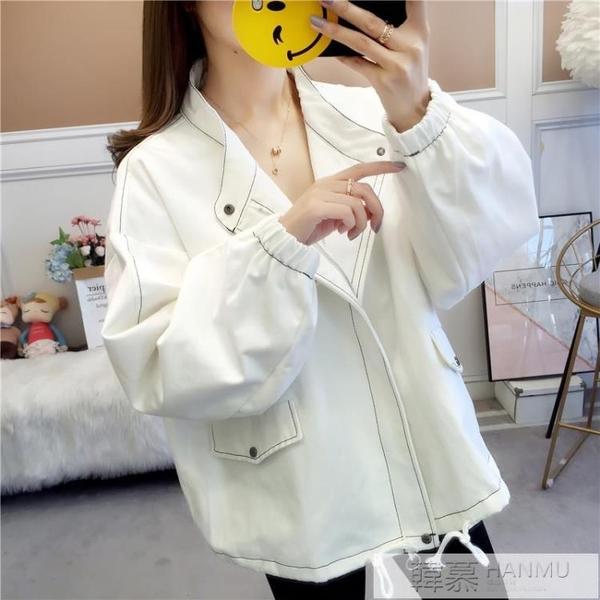 棒球服短外套女春秋裝2020新款韓版學生bf原宿寬鬆休閒夾克衫  牛轉好運到