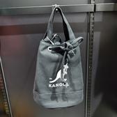 KANGOL 袋鼠黑色束口肩背側背包-NO.6925300720