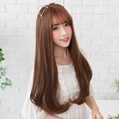限定款假髮 韓系優雅自然內彎長捲髮假髮女韓系蓬鬆自然空氣瀏海長假髮套