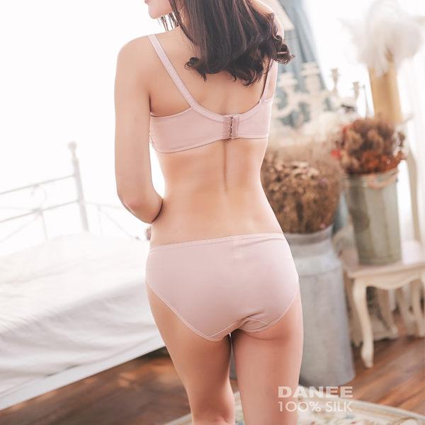 【岱妮蠶絲】素色低腰三角蠶絲內褲(珠粉)