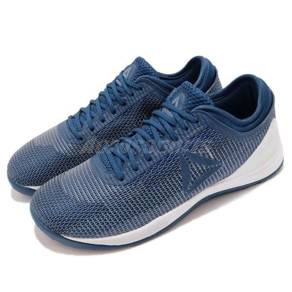 Reebok 訓練鞋 R CrossFit Nano 8.0 藍 白 運動鞋 男鞋 【PUMP306】 CN2970