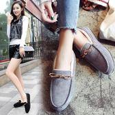 冬季豆豆鞋女加絨新款網紅百搭毛毛鞋女平底一腳蹬瓢鞋女棉鞋 沸點奇跡