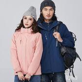 戶外沖鋒衣男兩件套冬季加絨加厚保暖登山服防風外套zzy7428『易購3c館』