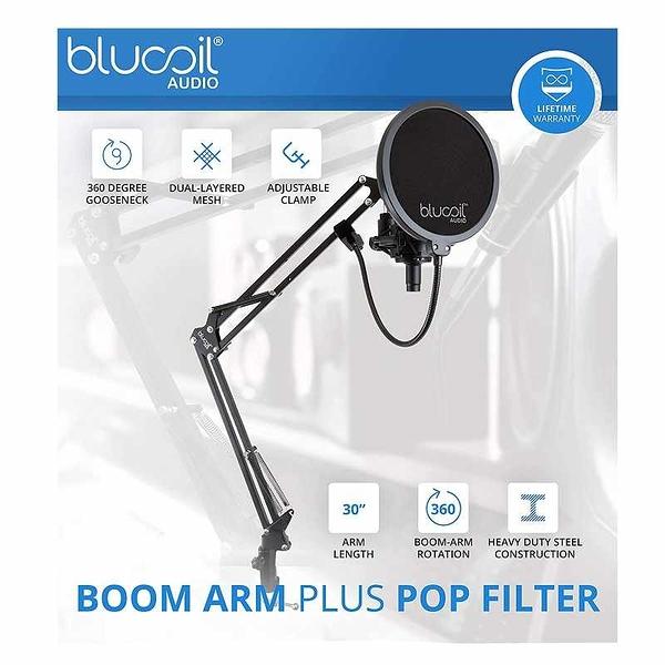 MXL 990 麥克風 Blucoil Boom Arm Plus Pop Filter, and 10-FT Balanced XLR Cable [2美國直購]