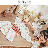 Disney迪士尼生活自然棉麻橫式手機袋/萬用包_淡彩公主