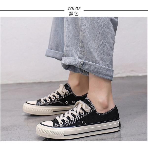 帆布鞋.經典款平底休閒帆布鞋.黑/白/粉/紅/綠/黃/卡其【鞋鞋俱樂部】【054-315】版型偏小