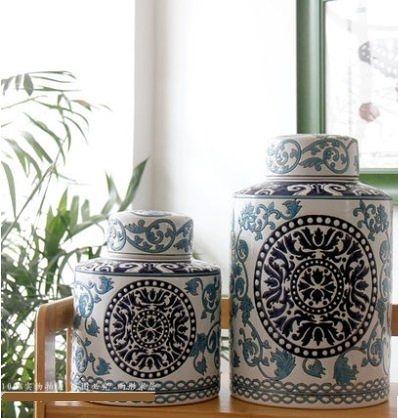 歐式陶瓷擺件儲物罐【小】