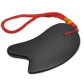 天然泗濱砭石刮痧板套裝面臉部腿背部全身通用非牛角玉石【快速出貨】