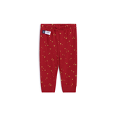 Gap女嬰棉質舒適愛心印花鬆緊腰休閒褲525898-摩登紅色