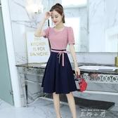 夏裝2020新款洋裝女夏洋裝韓版時尚氣質中長款小清新格子裙夏裙 米娜小鋪