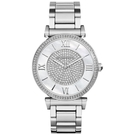 『Marc Jacobs旗艦店』美國代購 MK3355 Michael Kors白銀時尚精鋼雙排鑲鑽腕錶|100%全新正品|