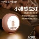 充電式智慧人體感應小夜燈感應燈光控家用過道臥室睡眠燈ins少女 3C優購