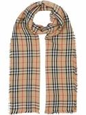 ■專櫃66折■全新真品■Burberry Vintage 格紋輕盈喀什米爾圍巾