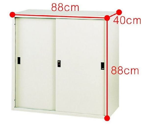 【 C . L 居家生活館 】Y115-9 高級3尺拉門鐵櫃