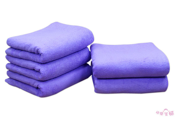 商用加寬素色毛巾被 / 薰衣草紫 / 100%純棉 美容床鋪床巾 950g 120x200cm 台灣製造【快樂主婦】