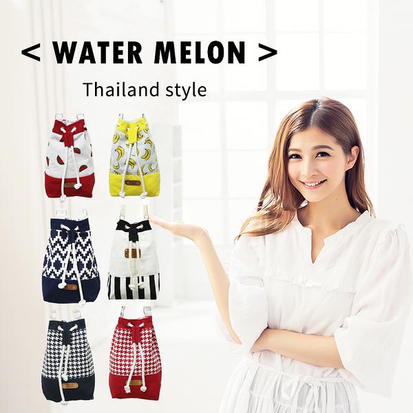 ☆小時候創意屋☆ 泰國品牌 WATER MELON包 曼谷包/BKK包/肩背包/收納包/側背包/媽媽包/水桶包/束口包