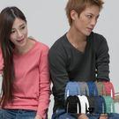 Cherry e購【U3531】潮男/情侶‧窄版素面多色款V領長T _10色