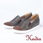 kadia.英倫風 經典格子紋休閒鞋(8525-75咖啡色)