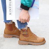 馬丁靴 短靴女秋冬2018新款英倫風學生百搭短筒靴子 BF8002【旅行者】