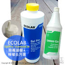 【配件王】缺貨 送擠壓頭 ECOLAB Gel Pro 矽立康發黴凝膠 + 檸檬去污膏 浴室除霉凝膠 除霉膏