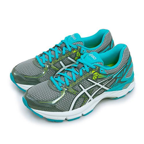 LIKA夢 Asics亞瑟士 專業避震慢跑鞋 GEL-EXALT 3 灰水藍 T666N-9601 女