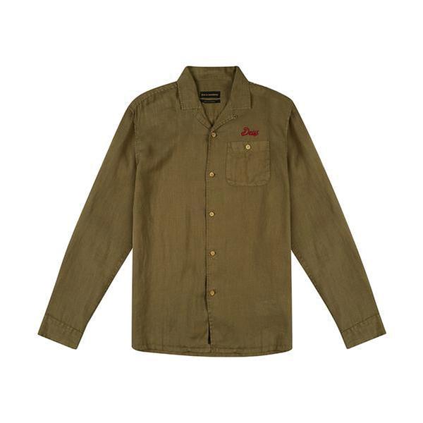 Deus Ex Machina Dean Linen Ss Shirtt 長袖襯衫-綠 (男)