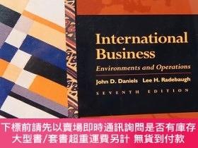 二手書博民逛書店International罕見Business : Environments and Operations (Se