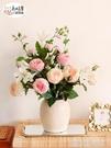 太像真花了!奧斯汀手感保濕玫瑰仿真花束客廳裝飾擺設擺件假花藝 【優樂美】