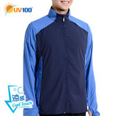 UV100 防曬 抗UV-涼感立領運動外套-輕巧收納