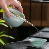 泡茶專用日式影青茶海 綠茶專用泡茶壺創意 過濾衝茶器花草茶具陶瓷茶具 【降價兩天】