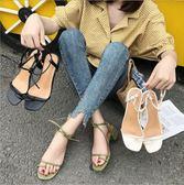 粗跟套趾涼鞋女夏季新款正韓時尚百搭性感一字扣帶高跟涼鞋女