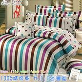 鋪棉床包 100%精梳棉 全舖棉床包兩用被四件組 雙人加大6*6.2尺 Best寢飾 FJ686
