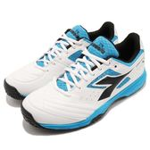 DIADORA 網球鞋 S.Challenge 2 AG 白 藍 專業網球鞋款 吸震EVA中底 運動鞋 男鞋【PUMP306】 DA173005C6016