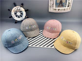 新款寶寶遮陽鴨舌帽男女童刺繡棒球帽潮流時尚個性帽子喜歡帽子潮