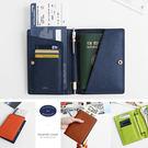 【韓國創意品牌 invite.L】韓國正品空運 複合式 機票夾 護照夾 卡片夾 鈕釦設計 俐落簡單風格