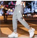 褲子男韓版潮流夏季休閒9分褲男工裝九分褲寬鬆哈倫褲直筒束腳褲貝芙莉