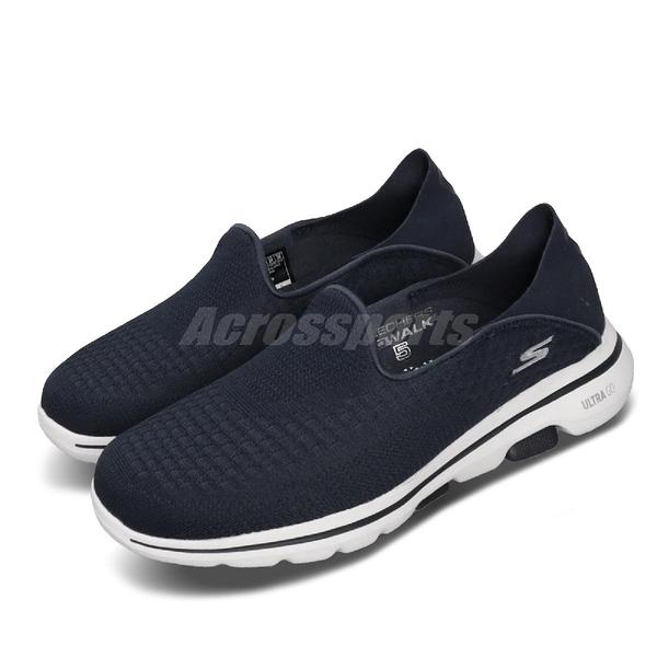 Skechers 休閒鞋 Go Walk 5 - Outclass 藍 白 女鞋 運動鞋 【PUMP306】 15927NVY
