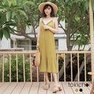 東京著衣-波西米亞串珠裝飾洋裝-S.M(...